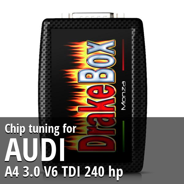 Chip tuning Audi A4 3.0 V6 TDI 240 hp
