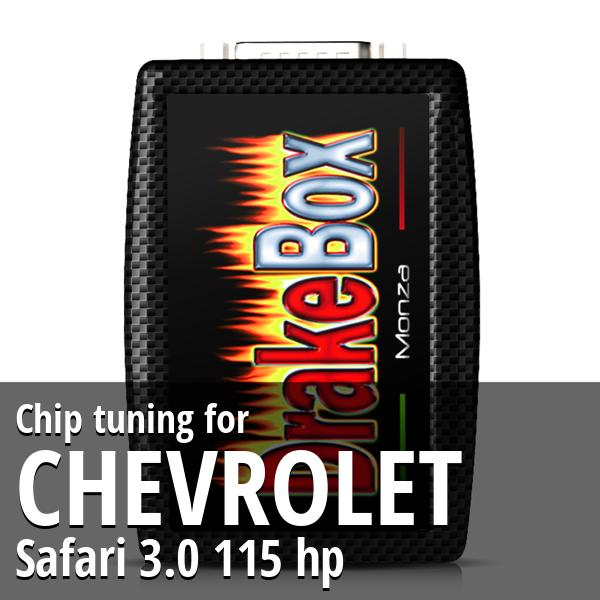 Chip tuning Chevrolet Safari 3.0 115 hp