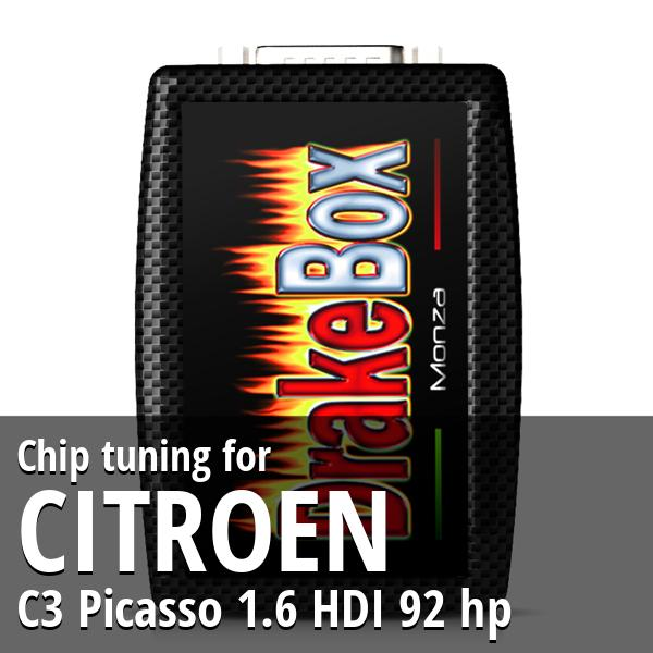 Chip tuning Citroen C3 Picasso 1.6 HDI 92 hp