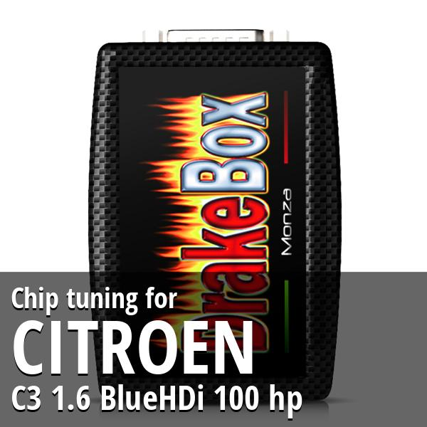 Chip tuning Citroen C3 1.6 BlueHDi 100 hp