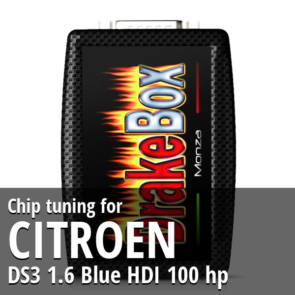 Chip tuning Citroen DS3 1.6 Blue HDI 100 hp