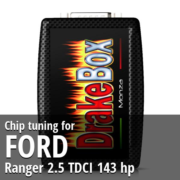 Chip tuning Ford Ranger 2.5 TDCI 143 hp