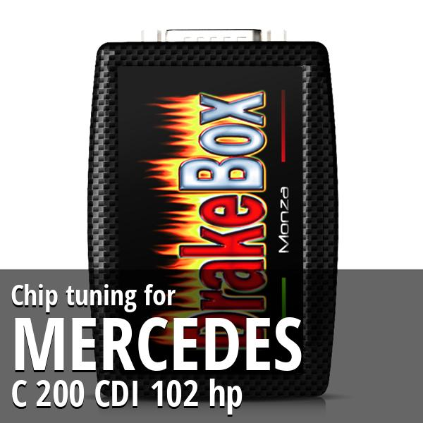 Chip tuning Mercedes C 200 CDI 102 hp