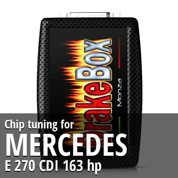 Chip tuning Mercedes E 270 CDI 163 hp