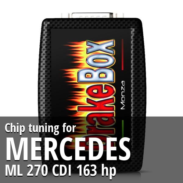 Chip tuning Mercedes ML 270 CDI 163 hp