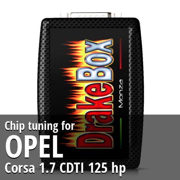 Chip tuning Opel Corsa 1.7 CDTI 125 hp