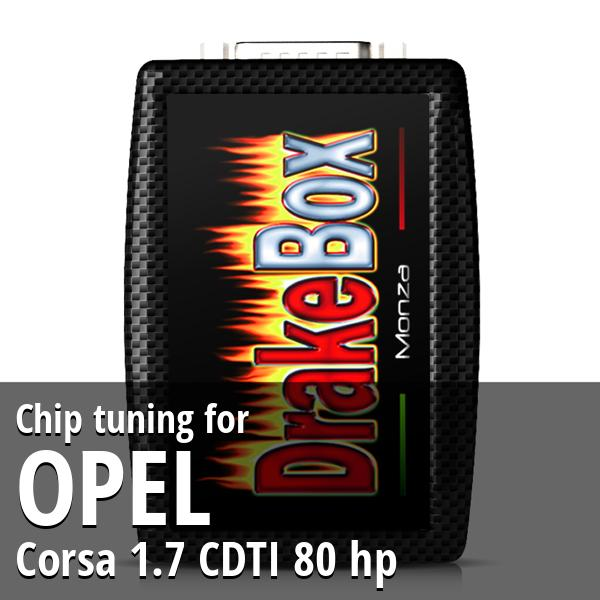 Chip tuning Opel Corsa 1.7 CDTI 80 hp