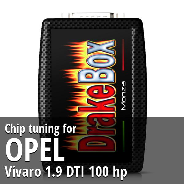 Chip tuning Opel Vivaro 1.9 DTI 100 hp