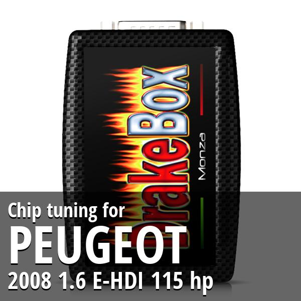 Chip tuning Peugeot 2008 1.6 E-HDI 115 hp