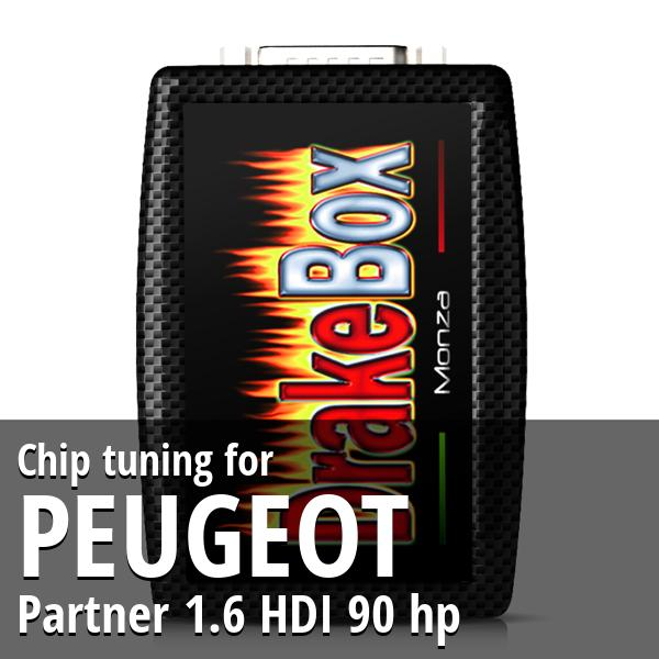 Chip tuning Peugeot Partner 1.6 HDI 90 hp