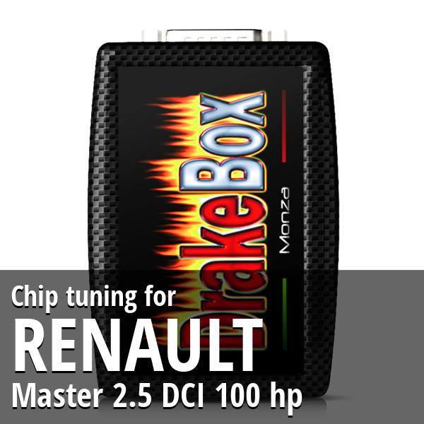 Chip tuning Renault Master 2.5 DCI 100 hp