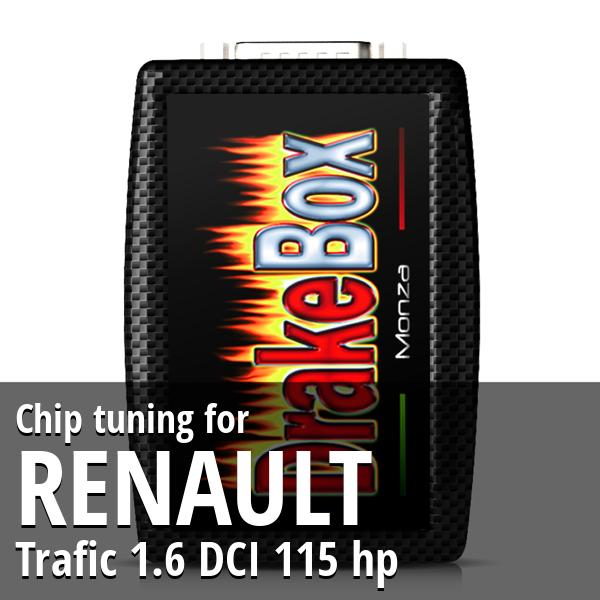 Chip tuning Renault Trafic 1.6 DCI 115 hp