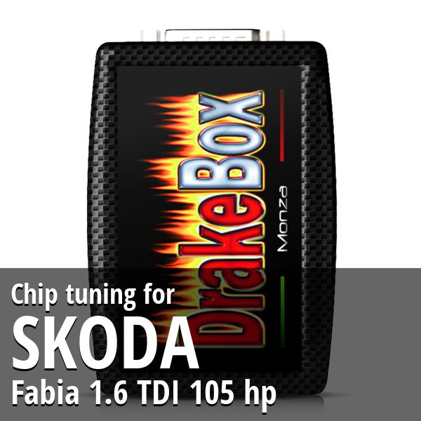 Chip tuning Skoda Fabia 1.6 TDI 105 hp