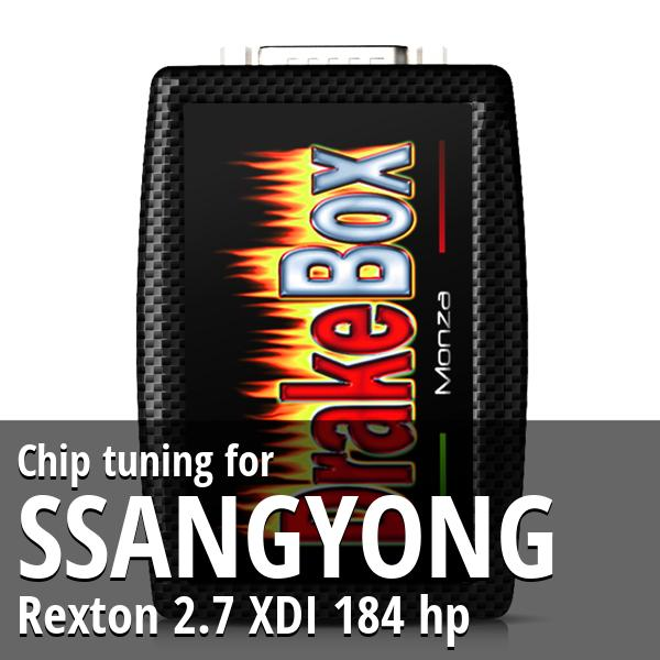 Chip tuning Ssangyong Rexton 2.7 XDI 184 hp