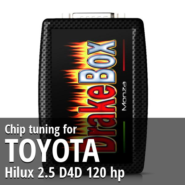 Chip tuning Toyota Hilux 2.5 D4D 120 hp