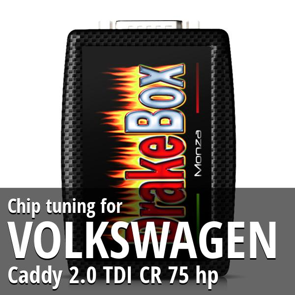 Chip tuning Volkswagen Caddy 2.0 TDI CR 75 hp