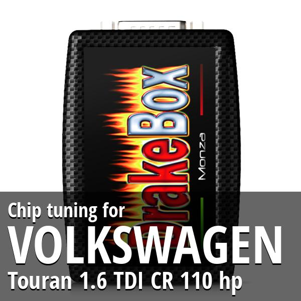 Chip tuning Volkswagen Touran 1.6 TDI CR 110 hp