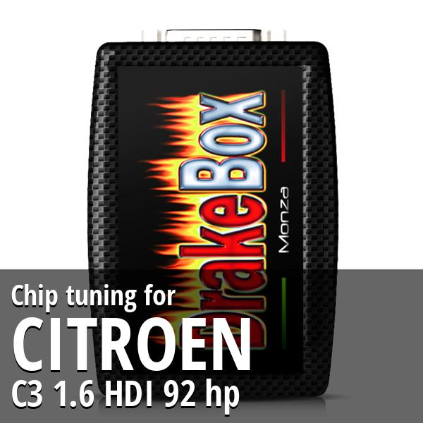 Chip tuning Citroen C3 1.6 HDI 92 hp