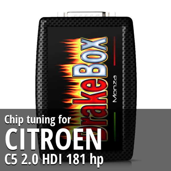 Chip tuning Citroen C5 2.0 HDI 181 hp