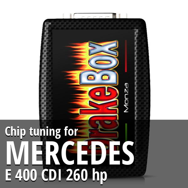 Chip tuning Mercedes E 400 CDI 260 hp