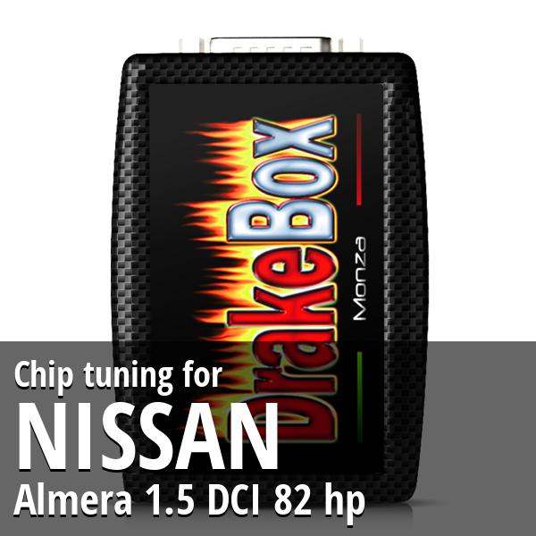 Chip tuning Nissan Almera 1.5 DCI 82 hp