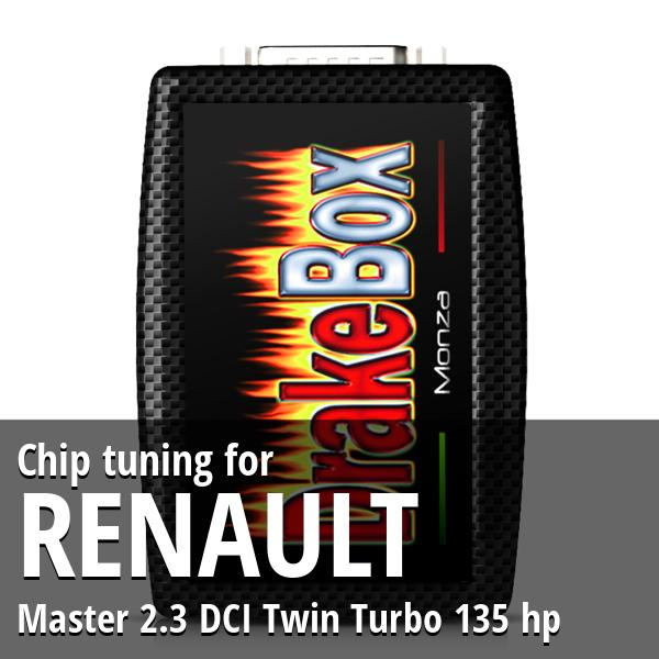 Chip tuning Renault Master 2.3 DCI Twin Turbo 135 hp
