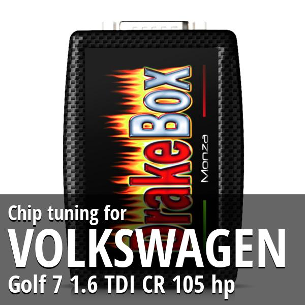 Chip tuning Volkswagen Golf 7 1.6 TDI CR 105 hp